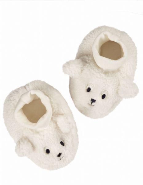 Frugi Cosy Booties Soft White Sheep